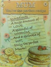 The Perfect Mum Recipe Mothers Gift Mom Kitchen Funny Novelty Fridge Magnet
