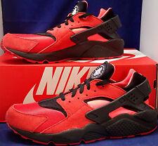 Nike Air Huarache Run iD Black Red Solar Red SZ 11 ( 777330-997 )