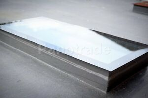 1000mm x 3000mm Triple Glazed, Clear Glass Roof SKYLIGHT, Self-Cleaning