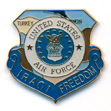 Iraqi Freedom Irak U.S. Air Force United States USA Badge Pin Anstecker 0775