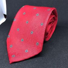 Mens Atomic Vintage Etienne Aigner 100% Silk Red MCM Necktie Geometric Pattern