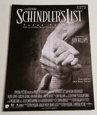 Partition sheet music film Schindler' List * 90's Spielberg John Williams Piano