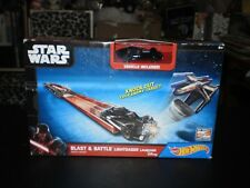 STAR WARS BLAST & BATTLE LIGHTSBAER LAUNCHER MATTEL 2014 NEW