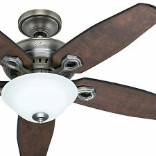 "Hunter 52"" Traditional Ceiling Fan - Antique Pewter Finish - Remote Control"
