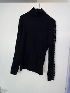 Zara Black Polo Neck Jumper Large