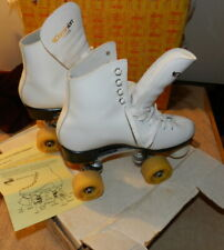 Vintage Dominion Canada Ladies White Roller Skates SZ 6 Walls skate Supply
