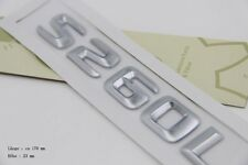 E801 S260L Emblem Badge auto aufkleber 3D Schriftzug car Sticker S60 S26 S260