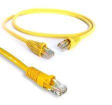 2M RJ45 Cavo Ethernet CAT5E NETWORK LAN CAT 5E INTERNET DSL PATCH LEAD GIALLO