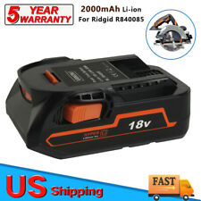For Ridgid R840085 2.0Ah 18V Compact Hyper Lithium Ion Battery R840087 R840083