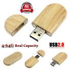 Chiavetta USB 2.0 64GB Flash Pen Drive Memory Stick High Speed Wood Legna U Disk