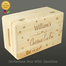 Personalised Christmas Eve Box, Personalised Wooden Box
