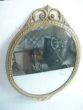 Specchio Specchiera Cornice BAROCCO ottone lucido OVALE
