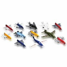 Metal Die Cast Toy Airplane Set of 12 Military Planes and Jets. Great for Kids