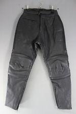 RIOSSI BLACK COWHIDE LEATHER BIKER TROUSERS: WAIST 30 INCH/INSIDE LEG 30 INCH