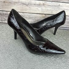 Merona Brown Faux Snakeskin Pointed Toe Pumps Size 9.5
