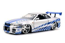 Jada Toys Nissan Skyline GT-R (R34) Fast & Furious Modell - 1:24