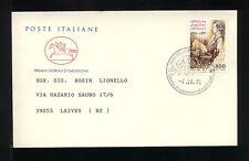 1991 ITALIA FDC CAVALLINO 7.10.1991 AMADEUS MOZART  VIAGGIATA