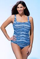 BLUE 1 PIECE SWIMSUIT  SQUARE NECK SWIMSUITS FOR ALL Choose  10 12    NEW