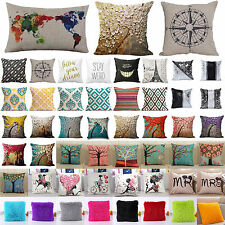 Cotton Linen Throw Cushions Cover Pillowcases Home Bed Sofa Decor Pillows Case