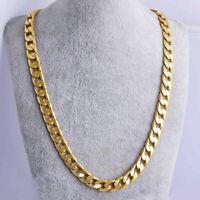 Hip-hop Necklaces Chain Pendant Women Man Neck Long 18K Gold Plated Punk Charm