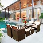 9 Pcs Patio Rattan Wicker Furniture Set Garden Sectional Couch Home Sofa Table