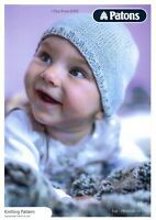 VAT Free Hand Knitting PATTERN BOOK Patons Baby Child Easy Knit Hat 5371 New