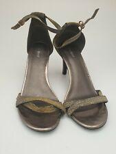 Ladies Graceland Heels UK Size 8/41 Glitter Ankle Strap Quality Fashion Wear