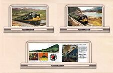 Trains billboards N or Z scale Northern Pacific and Np North Coast Ltd. set# 2