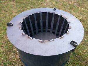Feuerkorb Einsatz + Abstandshalter Waschmaschinentrommel Feuerplatte Plancha NEU