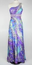 Tony Bowls Sz 8 - PURPLE & TEAL ONE SHOULDER FORMAL PROM HOMECOMING DRESS GOWN