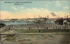 Berkley VA St. Helena Training Station 2800 Sailors c1910 Postcard rpx