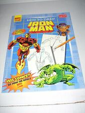 Marvel Super Heroes Ser.: How to Draw Iron Man (1997, Paperback) NEW Condition