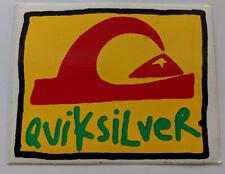 QUIKSILVER Vintage 1980s Surf STICKER Vinyl SURFING Quicksilver BEACH Salt Life