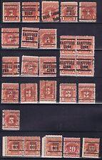 US: 25+ 1930-56 3-10c Postage due precancels. Carmine color Many better T&T.
