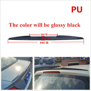 99CM PU Glossy Black SUV Car Rear Roof /Hatch Gate/Spoiler Lip Wing Tail Sticker