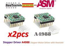 2pcs Reprap Stepper Driver A4988 Stepper Motor Driver with Heatsink ENVIO RAPIDO