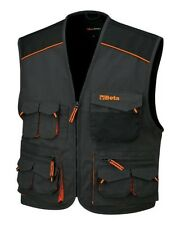 BETA TOOLS 7907E SLEEVELESS WORK JACKET, MULTIPOCKET STYLE, IN T/C CANVAS   M