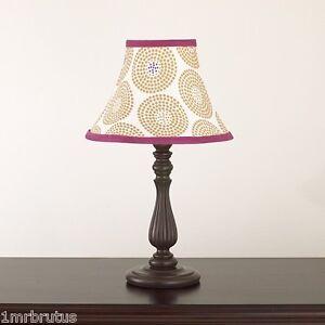 CoCaLo Iris Shabby Chic Girl's Nursery Room Candlestick Lamp & Shade Geometric