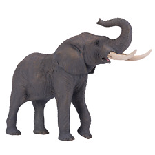 More details for mojo african bull elephant wild animal model figure toys plastic forest jungle