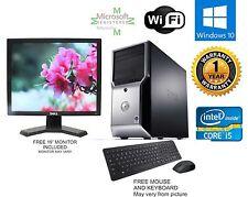 Dell Precision T1500 Computer i5 760 2.80ghz 8gb 500GB WINDOW 10 hp 64 FX 580