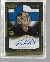 2013 Panini Contenders Tuukka Rask 03/25 autograph - Bruins