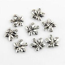 20Pcs Tibetan Silver Butterfly Charms Pendants 13X13mm