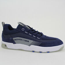 Dc Shoes Chaussures Legacy 98 Slim Bleu Blue Cuir ADYS100435NGY Skater Baskets
