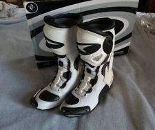 AXO Aragon Motorcycle Boots Men's Sz 8 White