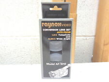 RAYNOX Conversion Lens Set~1.5x Telephoto~.65 Wide Angle~AF-1010~Camcorder
