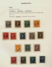 Argentina  105-114  mint  set of specimen overprints
