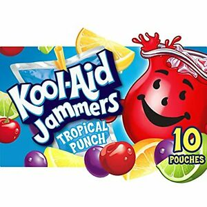 Kool-Aid Jammers Tropical Punch Flavored Juice Drink (10 Pouches)