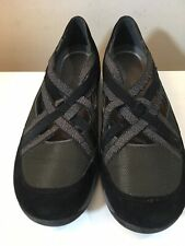 Dansko Hilde Flat Halifax Collection Women's 9/9.5 EUR 39 Criss Cross Black