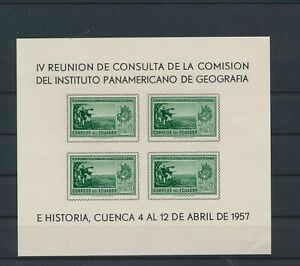LO40151 Ecuador 1957 geography institute imperf sheet MNH