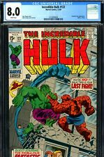 Incredible Hulk #122 CGC GRADED 8.0 -white pages- classic Hulk vs. Thing battle